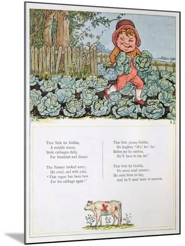 A Goblin Stealing Cabbages, Illustration for a poem from 'Under the Window'-Kate Greenaway-Mounted Giclee Print