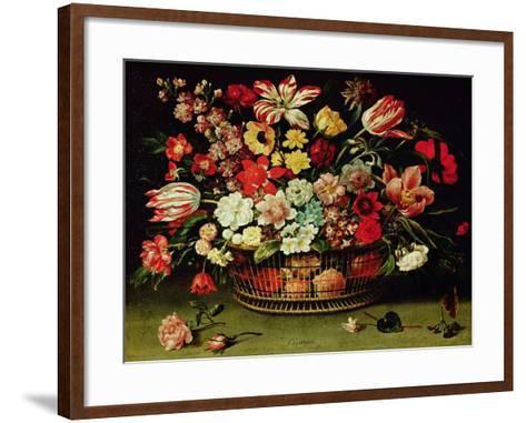 Basket of Flowers-Jacques Linard-Framed Art Print