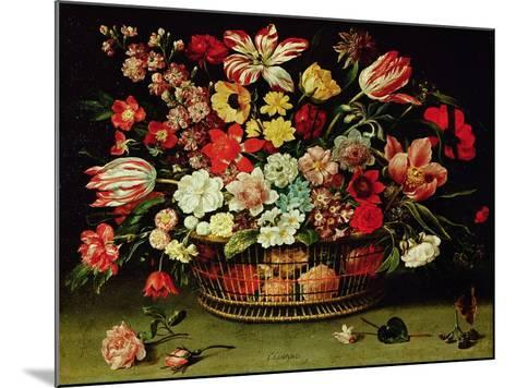 Basket of Flowers-Jacques Linard-Mounted Giclee Print