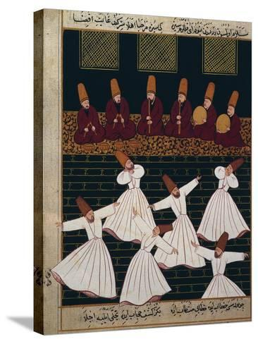 Ritual of the Whirling Dervishes at Konya--Stretched Canvas Print