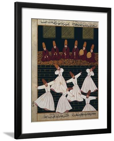 Ritual of the Whirling Dervishes at Konya--Framed Art Print