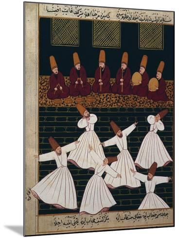 Ritual of the Whirling Dervishes at Konya--Mounted Giclee Print