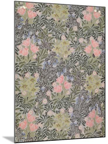 Wallpaper design with Tulips, Daisies and Honeysuckle-William Morris-Mounted Giclee Print