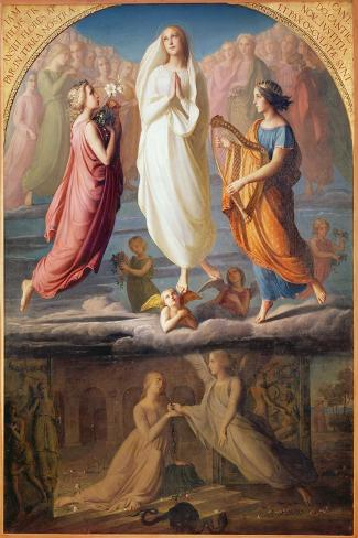 The Assumption of the Virgin, 1844-Louis Janmot-Stretched Canvas Print