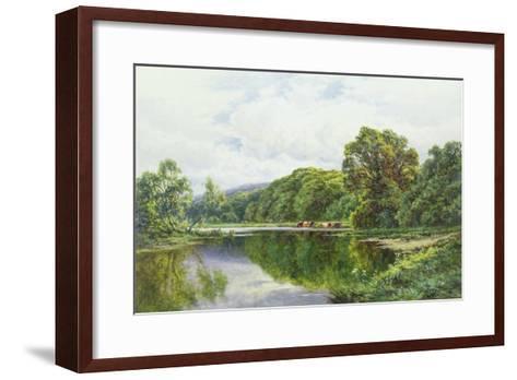 The Thames Near Henley-Henry Parker-Framed Art Print
