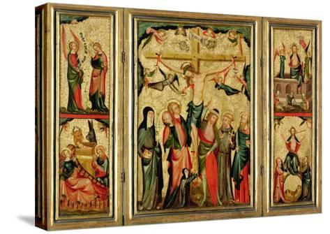 Triptych Depicting the Crucifixion of Christ, c.1350--Stretched Canvas Print