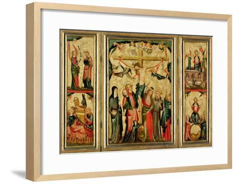 Triptych Depicting the Crucifixion of Christ, c.1350--Framed Art Print