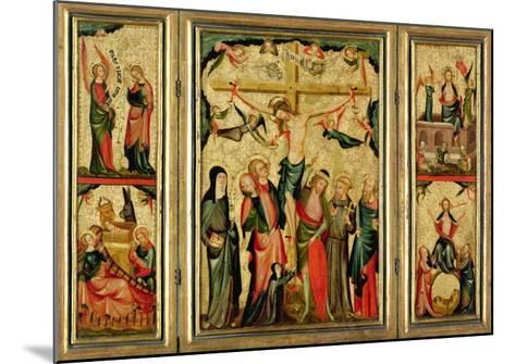 Triptych Depicting the Crucifixion of Christ, c.1350--Mounted Giclee Print