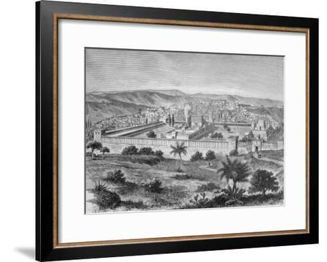 The Temple of Solomon in Jerusalem in the time of Jesus Christ, 1886--Framed Art Print