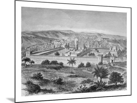 The Temple of Solomon in Jerusalem in the time of Jesus Christ, 1886--Mounted Giclee Print
