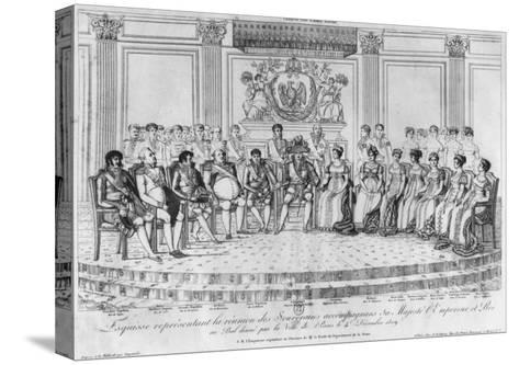 Sketch Depicting Napoleon I and the Sovereigns at Ball Given by City of Paris on 4th December 1809-Adrien Pierre Francois Godefroy-Stretched Canvas Print