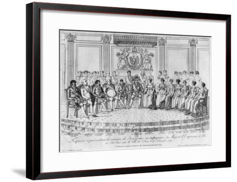 Sketch Depicting Napoleon I and the Sovereigns at Ball Given by City of Paris on 4th December 1809-Adrien Pierre Francois Godefroy-Framed Art Print