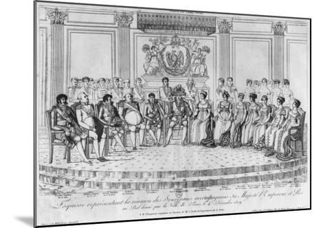 Sketch Depicting Napoleon I and the Sovereigns at Ball Given by City of Paris on 4th December 1809-Adrien Pierre Francois Godefroy-Mounted Giclee Print