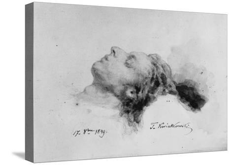 Frederic Chopin on His Deathbed, 17th October 1849-Antar Teofil Kwiatowski-Stretched Canvas Print