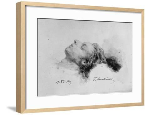 Frederic Chopin on His Deathbed, 17th October 1849-Antar Teofil Kwiatowski-Framed Art Print