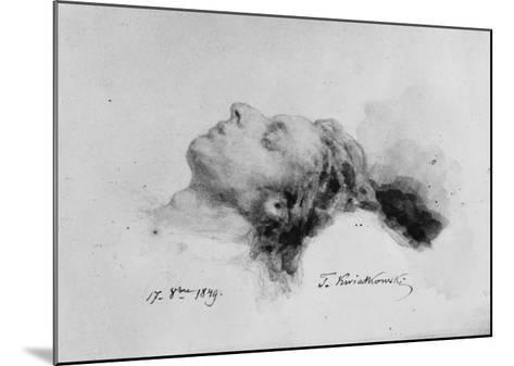 Frederic Chopin on His Deathbed, 17th October 1849-Antar Teofil Kwiatowski-Mounted Giclee Print