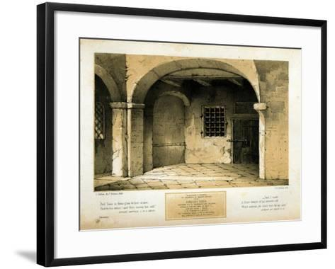 Memorial to Torquato Tasso, engraved by T.C. Dibdin after a 1846 painting-Carlo Grubacs-Framed Art Print