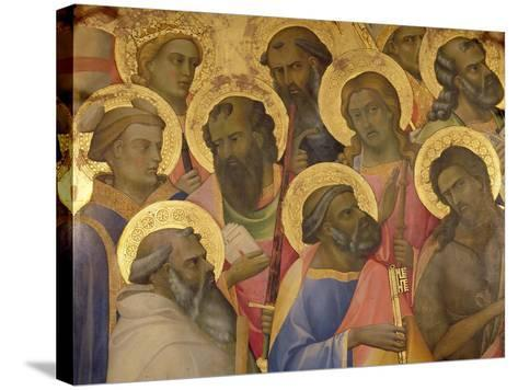 The Coronation of the Virgin, Detail of the Faces of the Saints, 1413-Lorenzo Monaco-Stretched Canvas Print