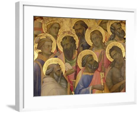 The Coronation of the Virgin, Detail of the Faces of the Saints, 1413-Lorenzo Monaco-Framed Art Print