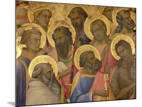 The Coronation of the Virgin, Detail of the Faces of the Saints, 1413-Lorenzo Monaco-Mounted Giclee Print
