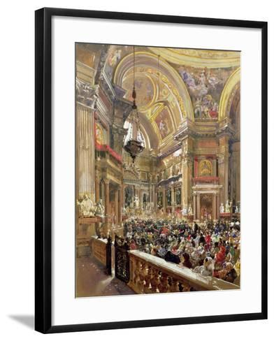 The Miracle of the Liquefaction of the Blood of Saint Januarius, 5th May 1863-Giacinto Gigante-Framed Art Print