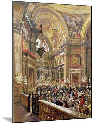 The Miracle of the Liquefaction of the Blood of Saint Januarius, 5th May 1863-Giacinto Gigante-Mounted Giclee Print