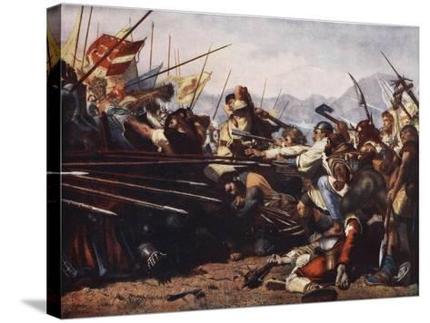 The Battle of Sempach, 1386-Konrad Grob-Stretched Canvas Print