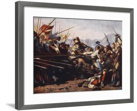 The Battle of Sempach, 1386-Konrad Grob-Framed Art Print