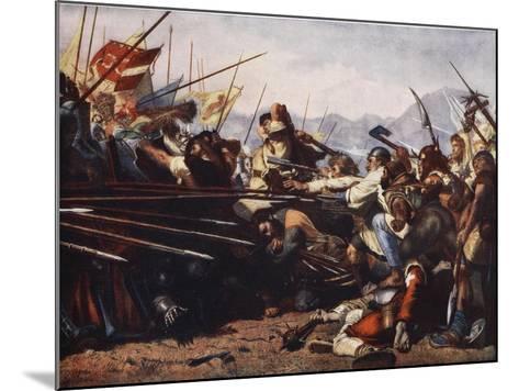 The Battle of Sempach, 1386-Konrad Grob-Mounted Giclee Print