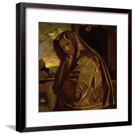 St. Mary Magdalene-Giovanni Girolamo Savoldo-Framed Art Print