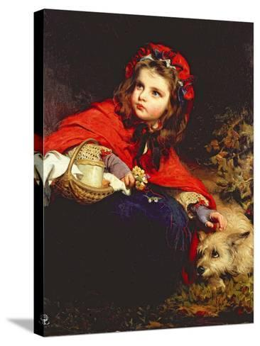 Little Red Riding Hood-James Sant-Stretched Canvas Print