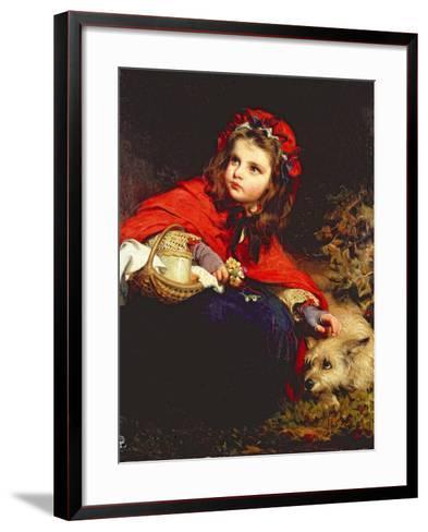 Little Red Riding Hood-James Sant-Framed Art Print