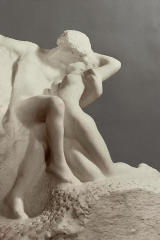 Eternal Spring, Early 1900s-Auguste Rodin-Stretched Canvas Print