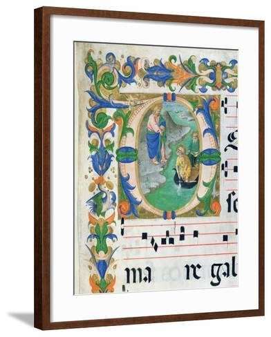 The Miraculous Draught of Fishes, from a Choir Book, Executed Before 1449-Zanobi Di Benedetto Strozzi-Framed Art Print