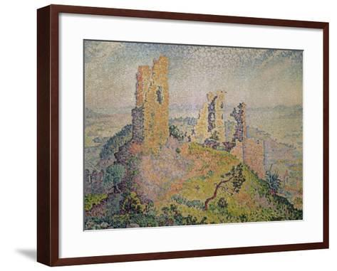 Landscape with a Ruined Castle-Paul Signac-Framed Art Print
