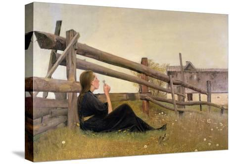 June, Girl Blowing Dandelion Seeds, 1899-Laurits Andersen Ring-Stretched Canvas Print