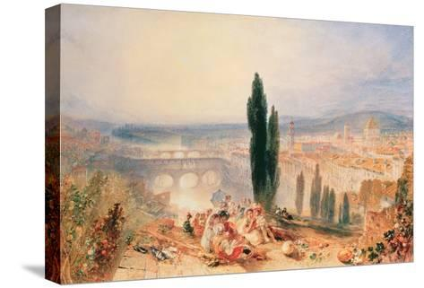 Florence from near San Miniato, 1828-J^ M^ W^ Turner-Stretched Canvas Print