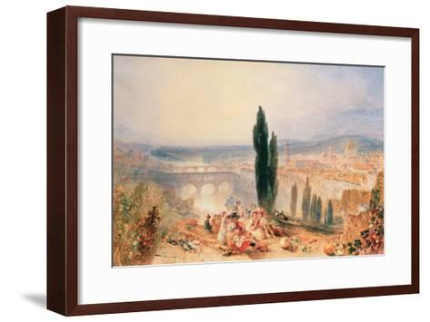 Florence from near San Miniato, 1828-J^ M^ W^ Turner-Framed Art Print