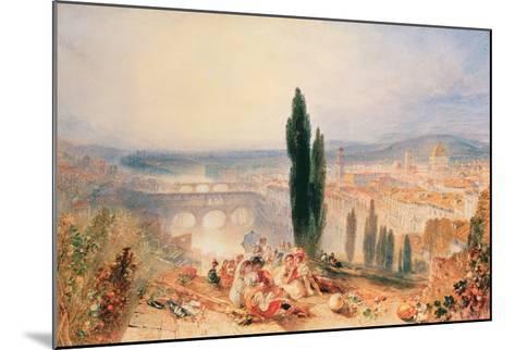 Florence from near San Miniato, 1828-J^ M^ W^ Turner-Mounted Giclee Print