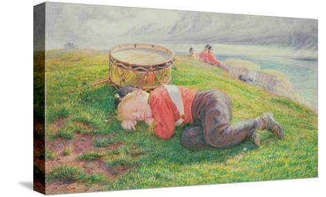 The Drummer Boy's Dream-Frederic James Shields-Stretched Canvas Print