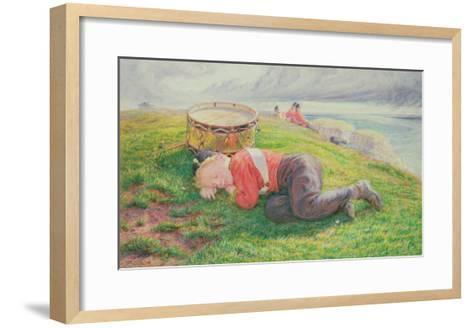 The Drummer Boy's Dream-Frederic James Shields-Framed Art Print