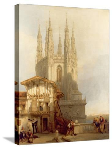 The Entrance to the North Transept, Burgos Castle, 1835-David Roberts-Stretched Canvas Print