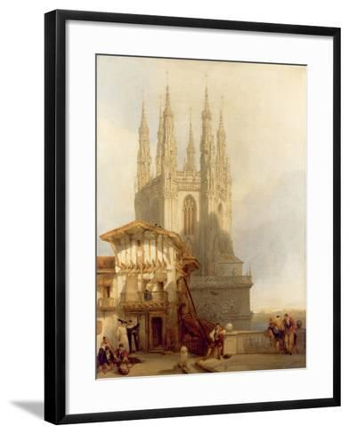 The Entrance to the North Transept, Burgos Castle, 1835-David Roberts-Framed Art Print
