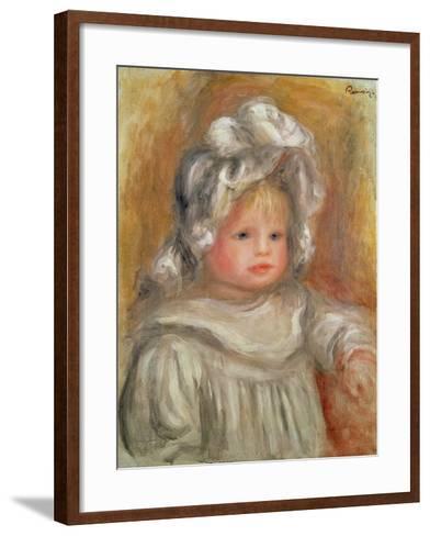 Portrait of a Child-Pierre-Auguste Renoir-Framed Art Print