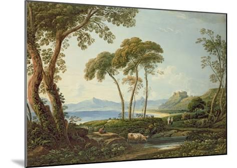 Landscape with Harlech Castle-John Varley-Mounted Giclee Print