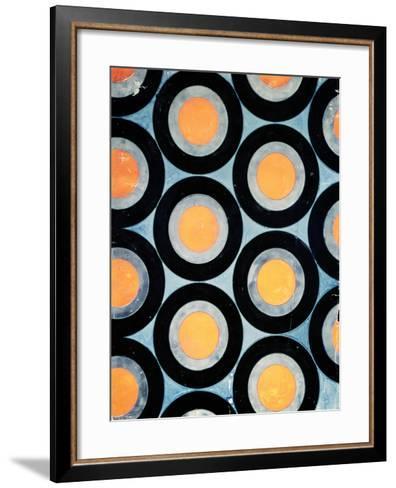 Circle Motif Texile Design-Varvara Fedorvna Stepanova-Framed Art Print