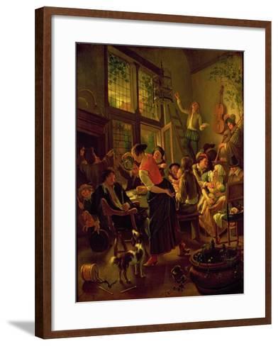 Family Meal-Jan Havicksz Steen-Framed Art Print