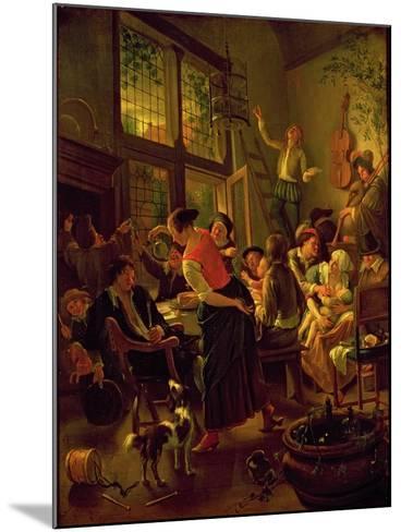 Family Meal-Jan Havicksz Steen-Mounted Giclee Print