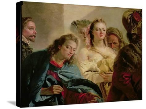 Christ and the Adulteress, 1751-Giandomenico Tiepolo-Stretched Canvas Print