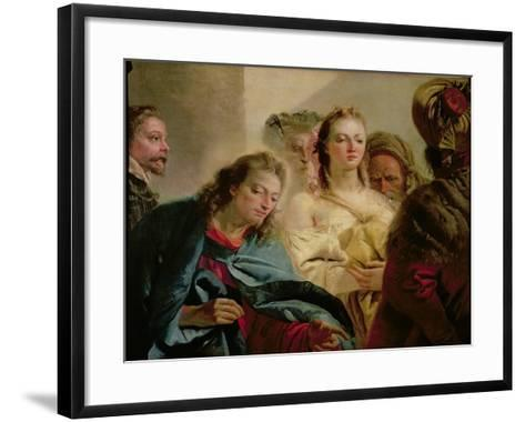 Christ and the Adulteress, 1751-Giandomenico Tiepolo-Framed Art Print